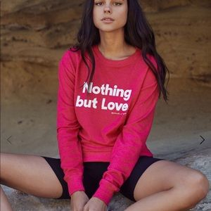 Spiritual Gangster pink nothing but love pullover